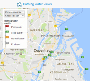 The Copenhagen bathing water quality website